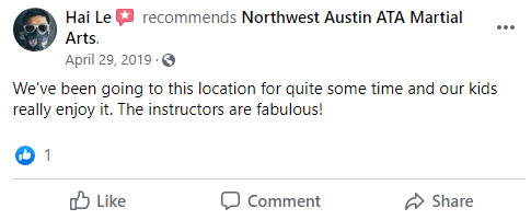 Kids2, Northwest Austin ATA Martial Arts Austin TX